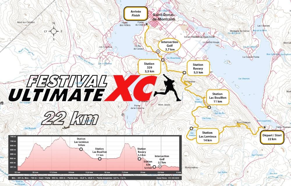 Dénivelé Ultimate XC St-Donat