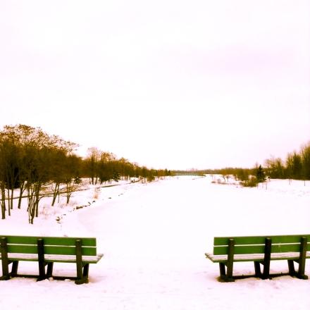 bench urban landscape