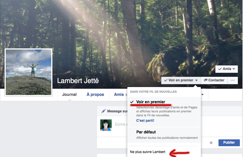 Page FB perso